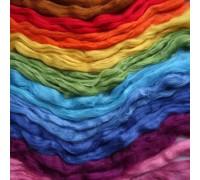 Шелковый топс для валяния (Шёлковые волокна, шёлковые коконы.)