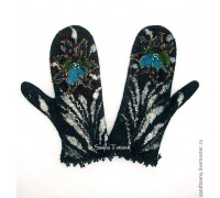 Варежки ручной работы Каменный цветок. Мастер Сасина Татьяна.